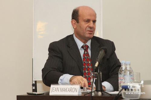 Ambassador of Lebanon Jean Makaron at the Diplomatic School