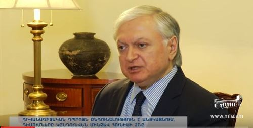 Foreign Minister Edward Nalbandian's interview about the DS