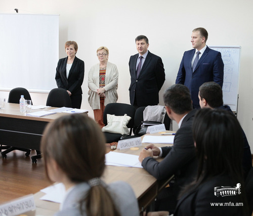 Launching the Russian language course at the Diplomatic School
