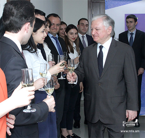 Minister Edward Nalbandian at the Diplomatic School of Armenia