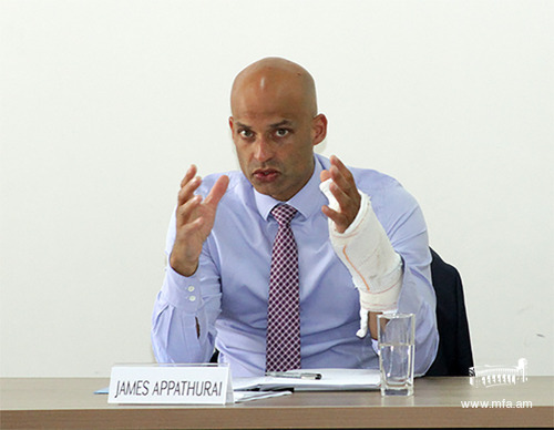 The Deputy Assistant Secretary General for Political Affairs and Security Policy and NATO Secretary General's Special Representative for the Caucasus and Central Asia, James Appathurai