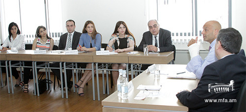Lecture for the students of the Diplomatic School of Armenia