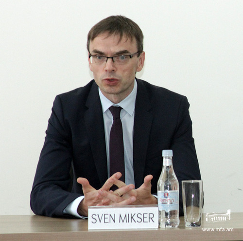 Minister of Foreign Affairs of Estonia Sven Mikser