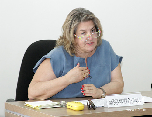 Ambassador of Greece Nafsika Nancy Eva Vraila