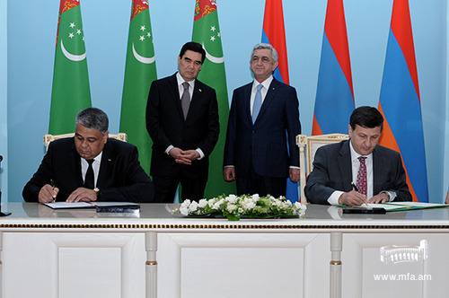 Signing of a MoU with Turkmenistan