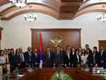 Mid-career trainees met with the State Minister of the Republic of Artsakh Grigory Martirosyan