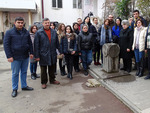 Mid-career trainees at the Museum of the Relatives of Soldiers of Artsakh War Missing in Action