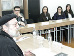 Archbishop Voskan Galpakyan at the Diplomatic School