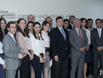 The head of the European Union to Armenia, Ambassador Piotr Switalski with the Students of the Diplomatic School